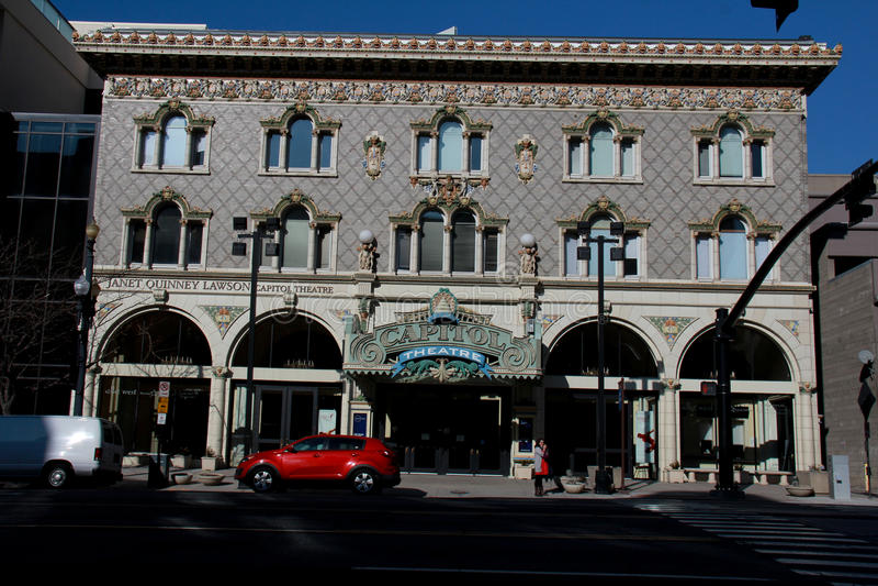 盐湖城:国会大厦剧院 图库摄影