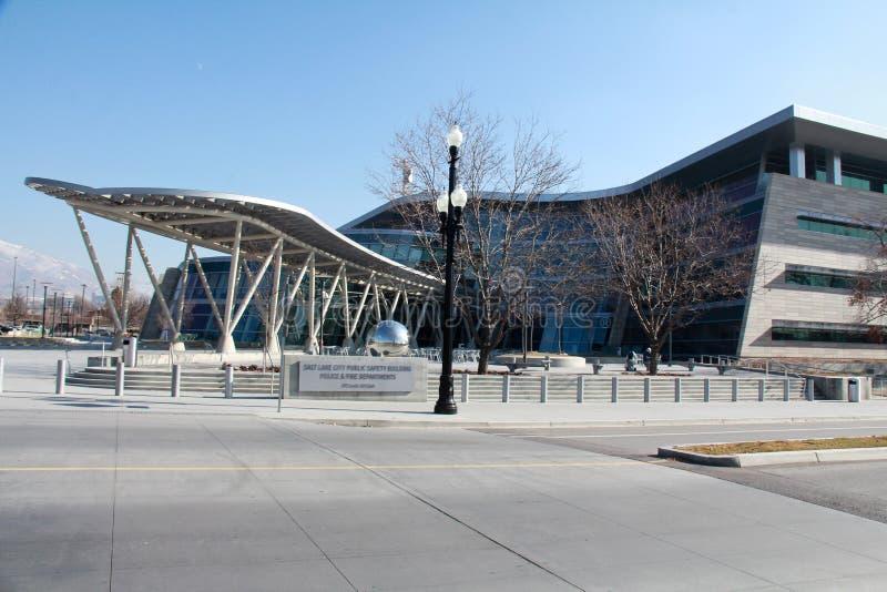 盐湖城:警察局 免版税库存照片