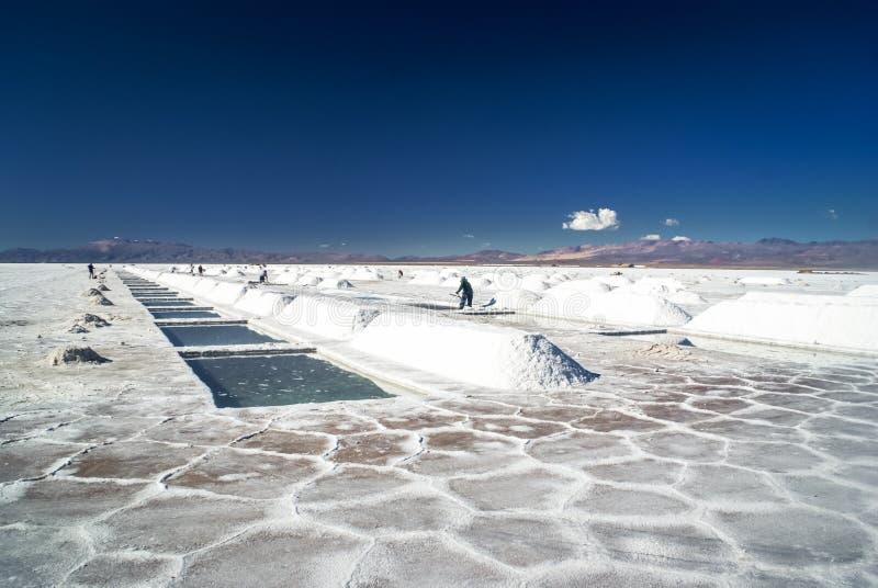 盐矿在阿根廷 免版税库存照片