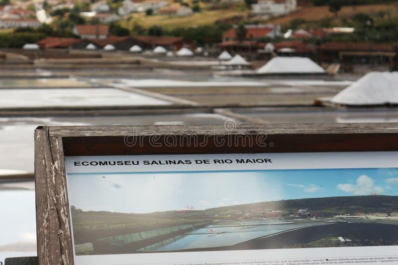 盐矿工的信息板材 图库摄影