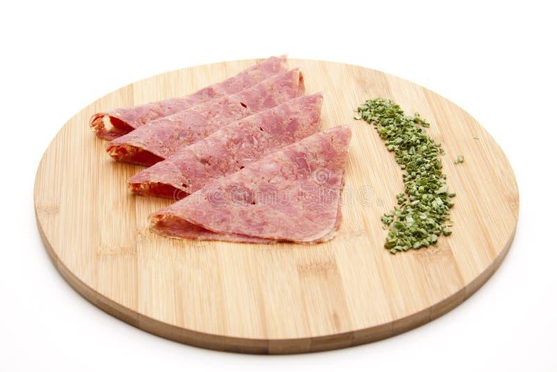 盐腌的牛肉 免版税图库摄影