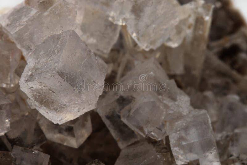 盐水晶(立方体) 免版税图库摄影