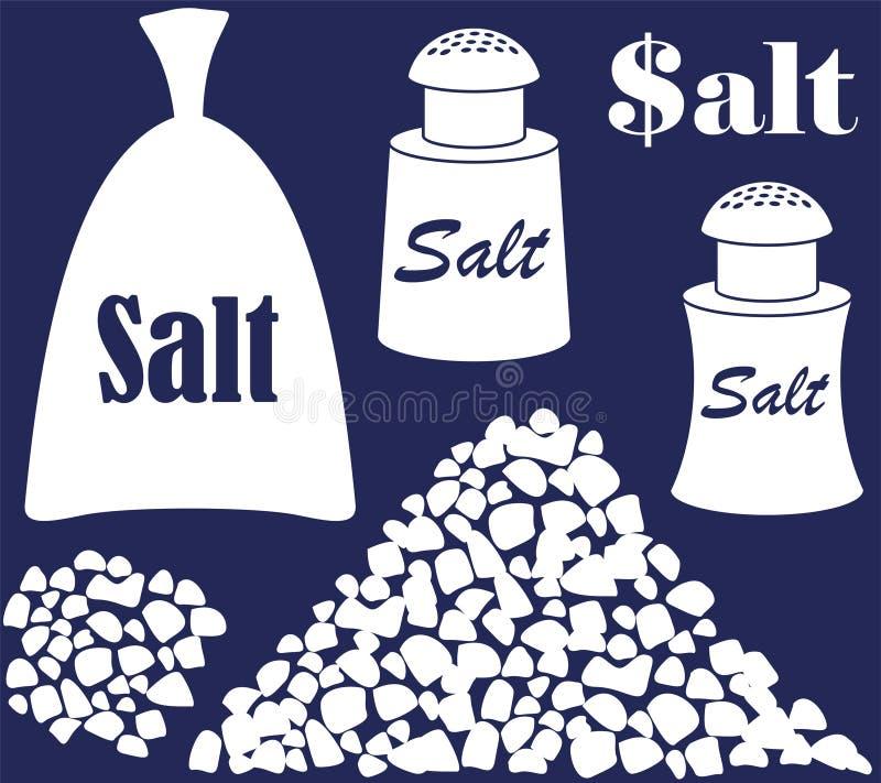 盐 向量例证