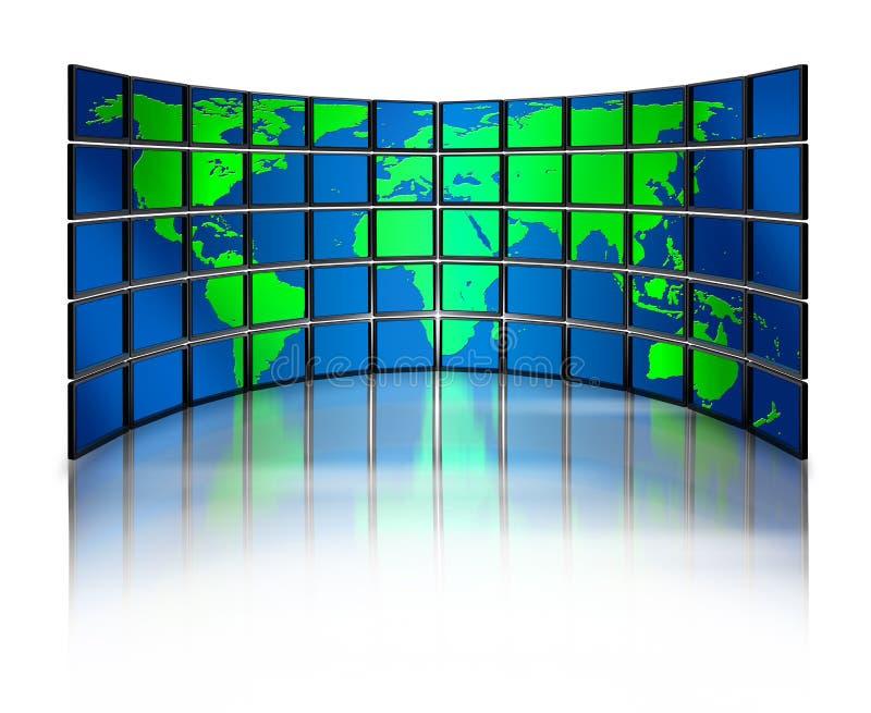 监控多媒体世界 向量例证