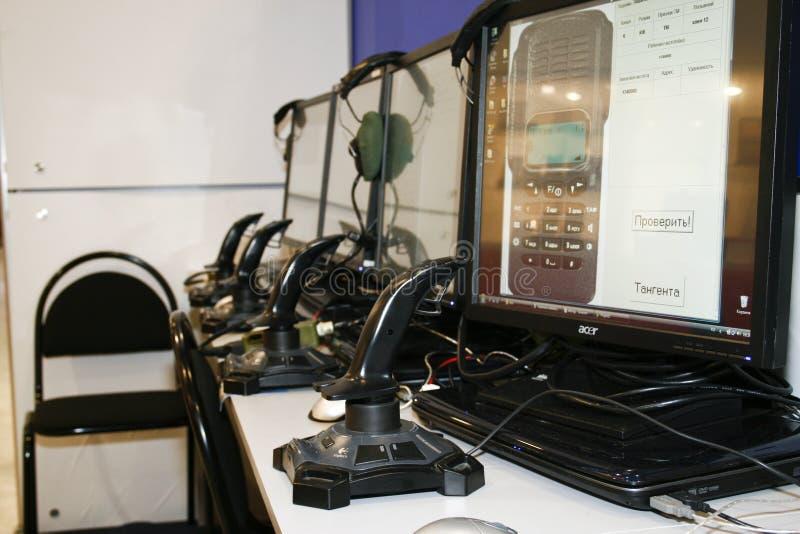 监控定位手提电话机有声电影walkie 免版税库存照片