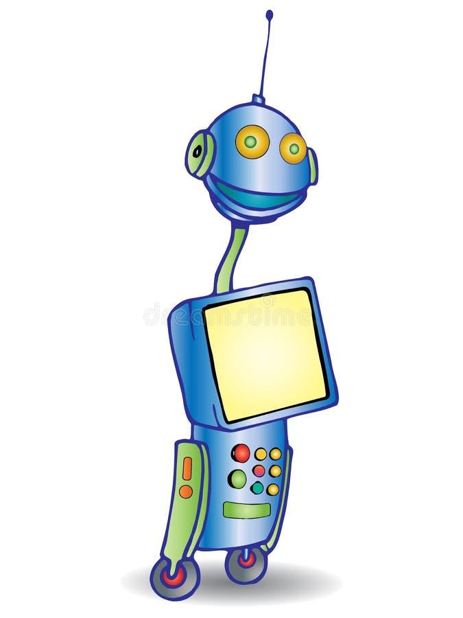 监控机器人 向量例证