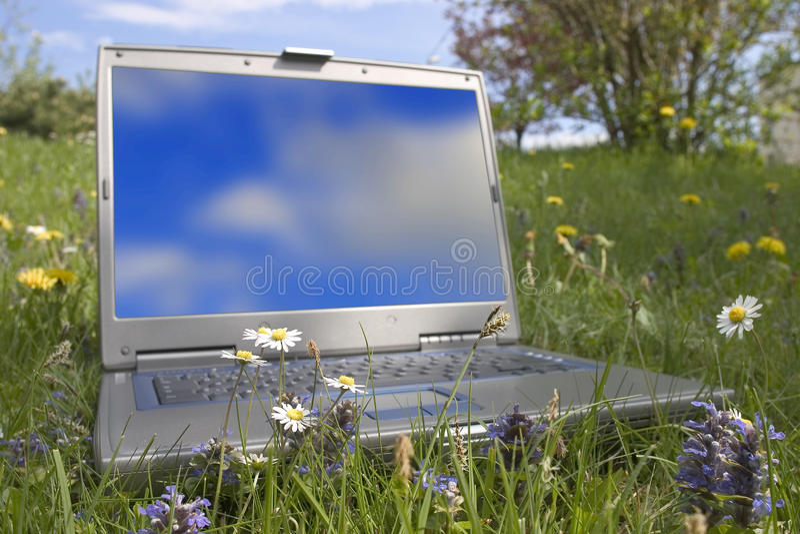 监控计算机 图库摄影