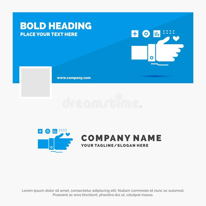 监测的,技术,健身,心脏,脉冲蓝色企业商标模板 r r 皇族释放例证