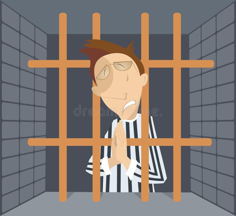 监狱动画片的人 皇族释放例证