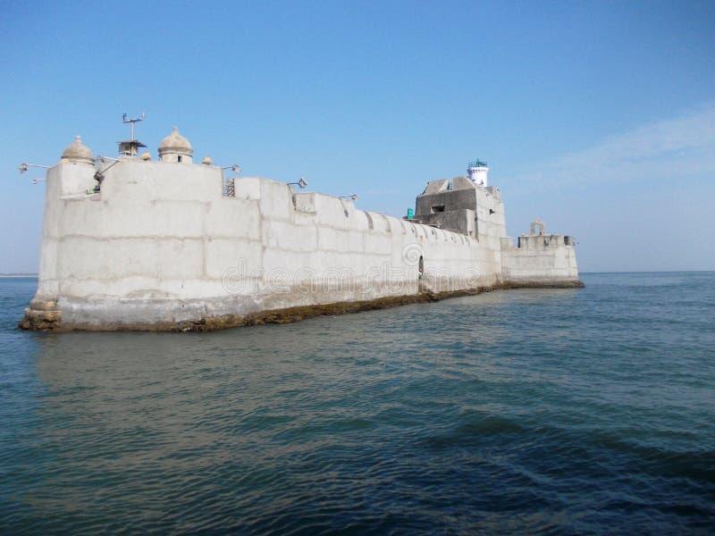 监狱在Diu/印度 库存照片