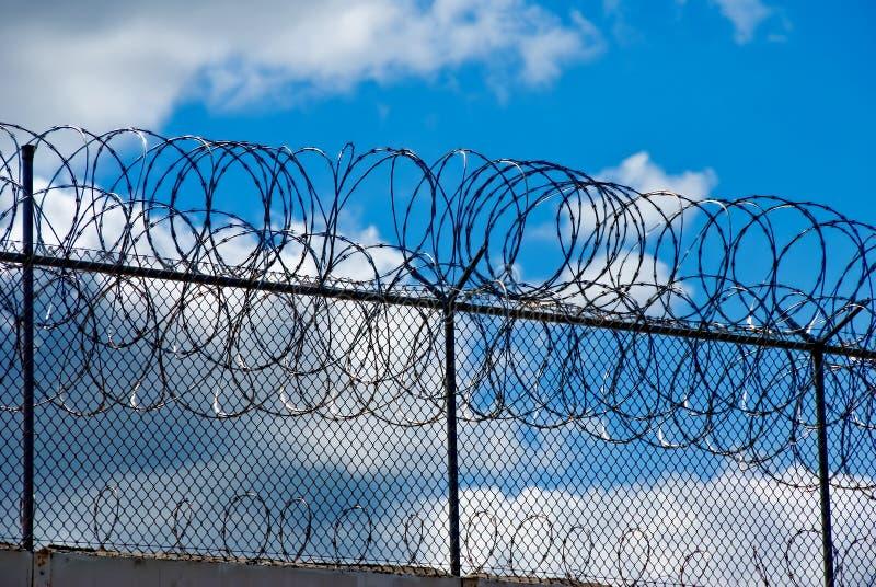 监狱墙壁 免版税图库摄影