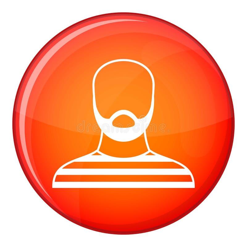 监狱服装象的,平的样式有胡子的人 向量例证