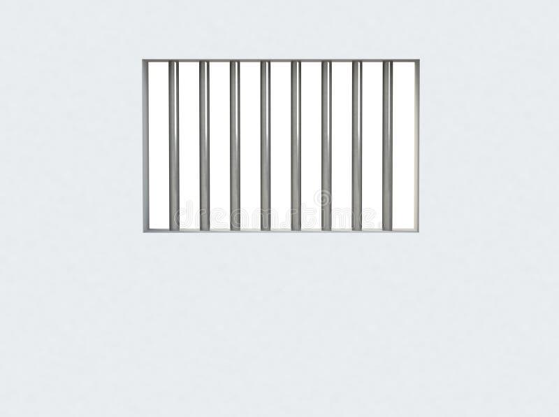 监狱牢房,禁止的窗口的内部 向量例证