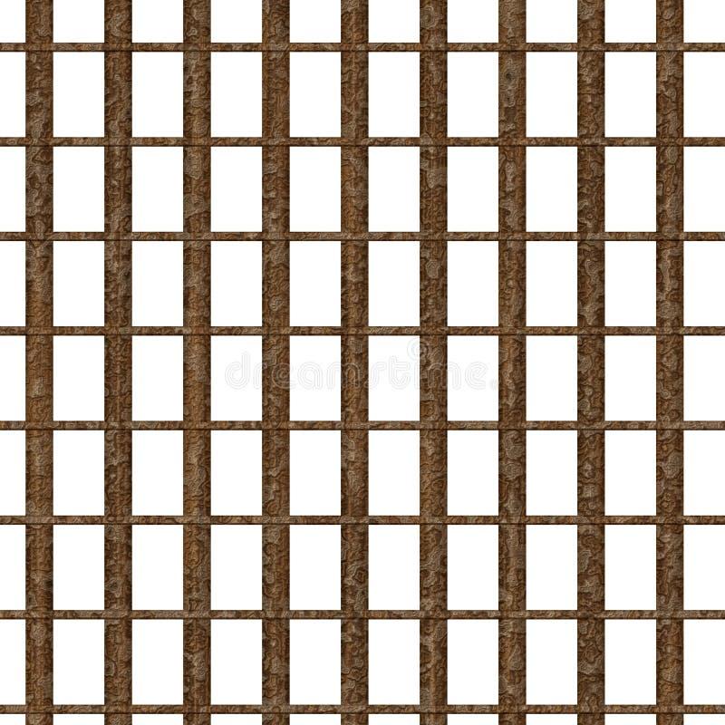 监狱生锈的视窗 向量例证