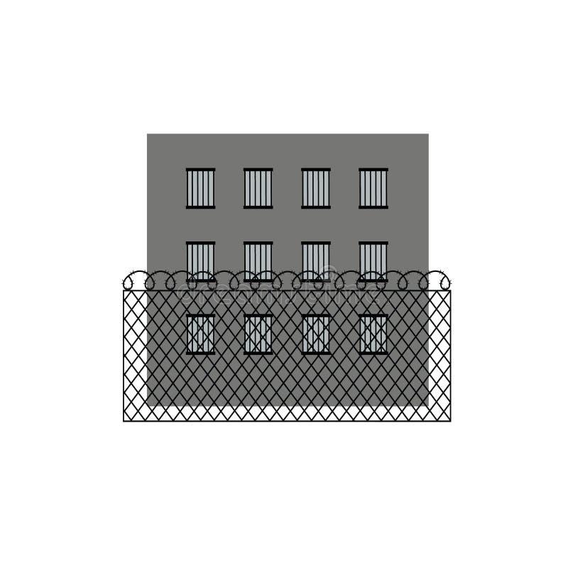 监狱监狱大厦的传染媒介例证 有刺的范围电汇 皇族释放例证