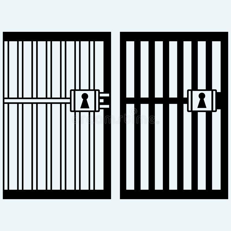 监狱,监狱 向量例证