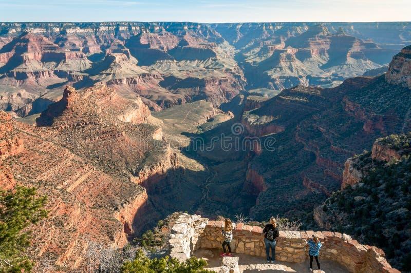 监视在大峡谷 库存图片
