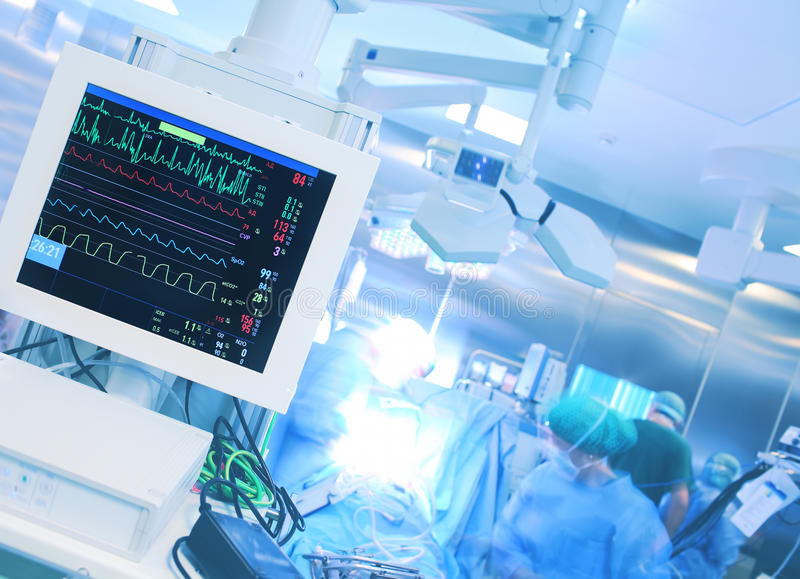 监视在手术期间的心率 免版税图库摄影