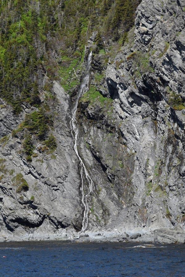 监视小山瀑布在格罗莫讷国家公园 库存照片