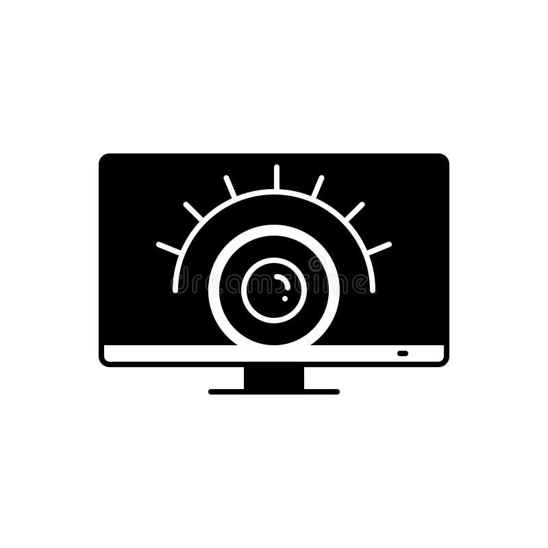 监视服务、观察和不动产的黑坚实象 向量例证
