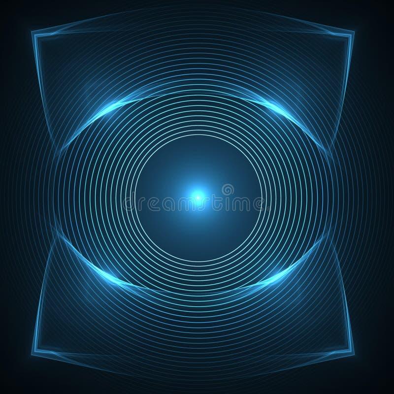 监视警惕性和观察的眼睛 向量例证