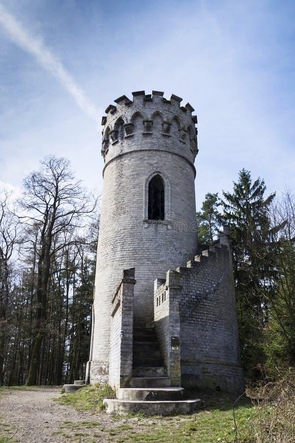 监视Ded有在Beroun捷克共和国附近的蓝天背景 库存照片