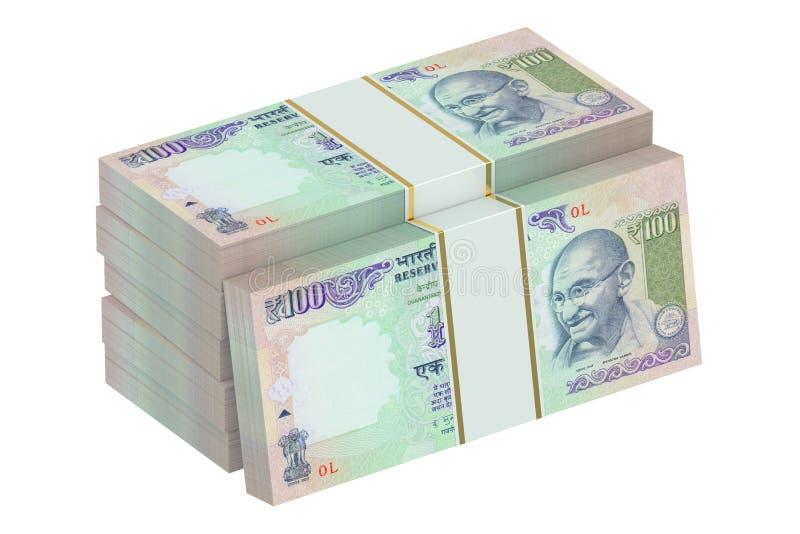 盒印度卢比 皇族释放例证