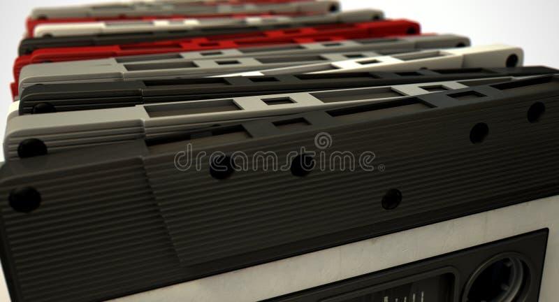盒式磁带堆 图库摄影