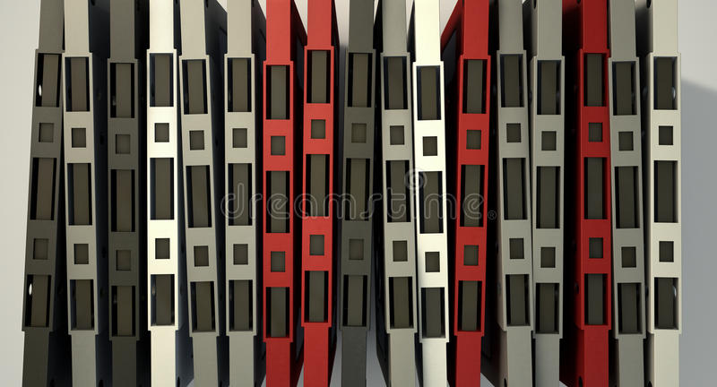 盒式磁带堆 向量例证