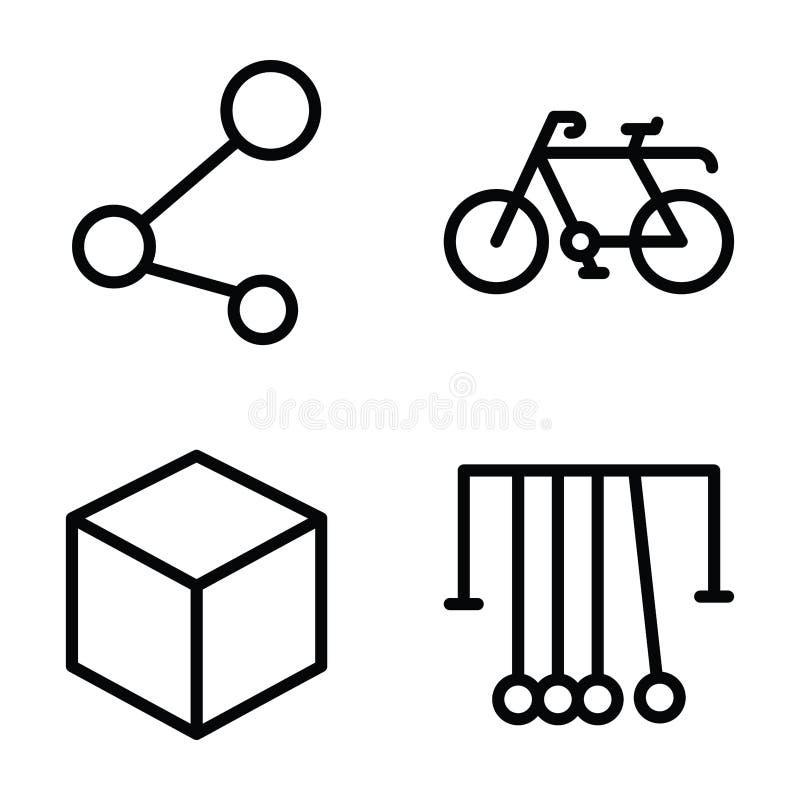 盒科学和教育线象 向量例证
