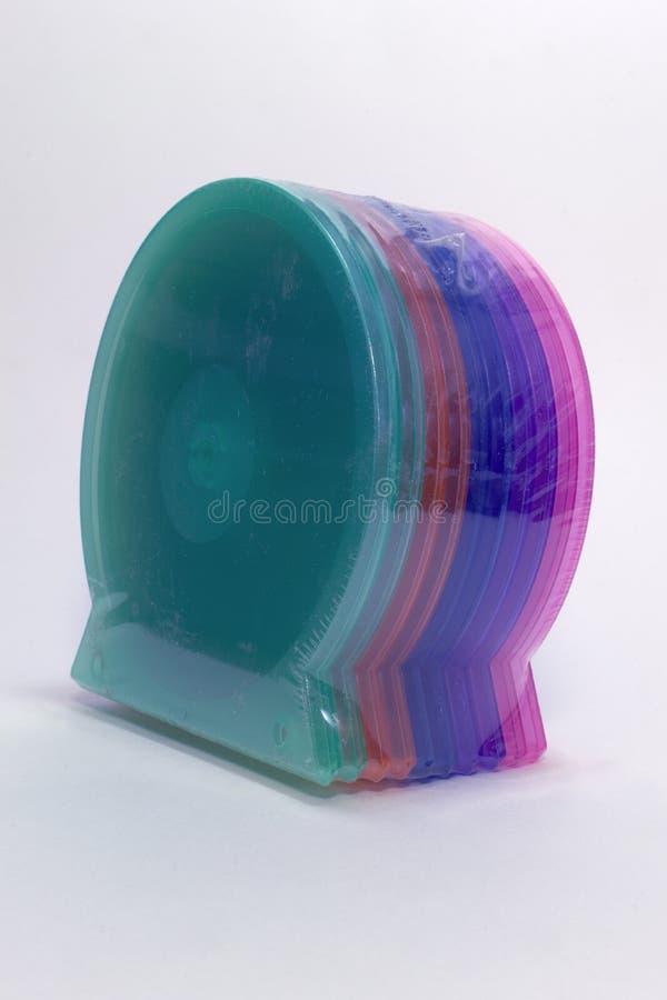 盒cd的唯一盒 颜色壳 裁减路线 免版税库存图片