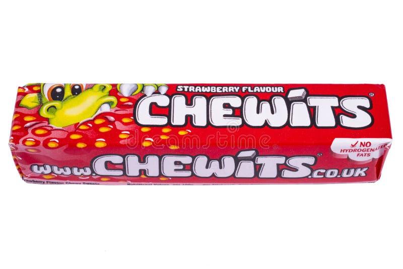 盒Chewits耐嚼的甜点 库存图片