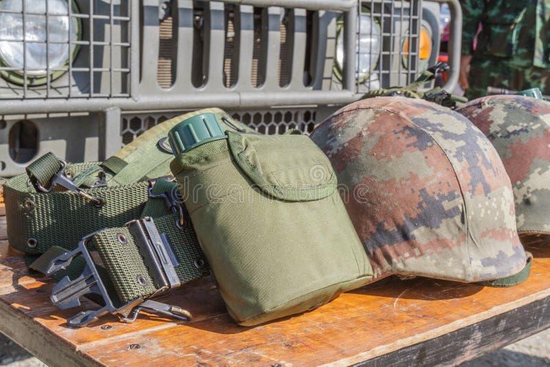 盔甲军用和军用烧瓶 图库摄影