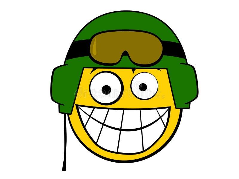 盔甲图标面带笑容战士 库存例证