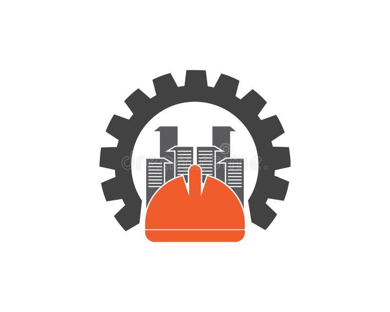 盔甲安全大厦商标设计模板 向量例证