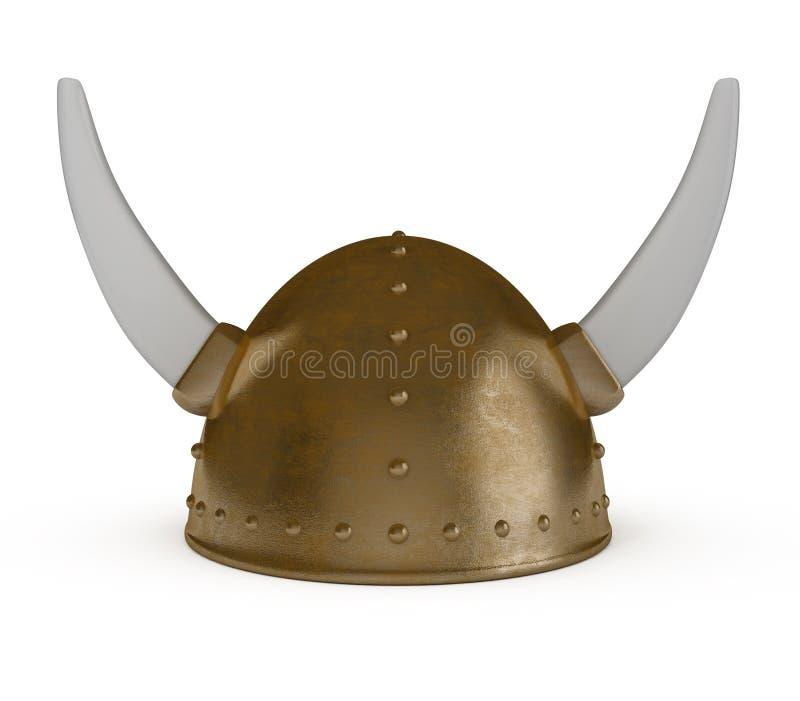 盔甲查出的北欧海盗白色 库存例证