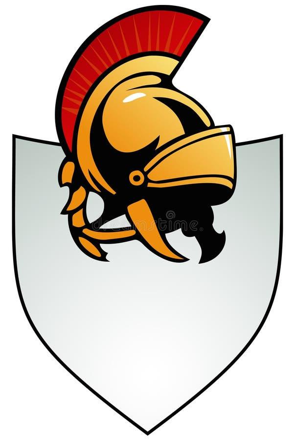 盔甲盾 皇族释放例证