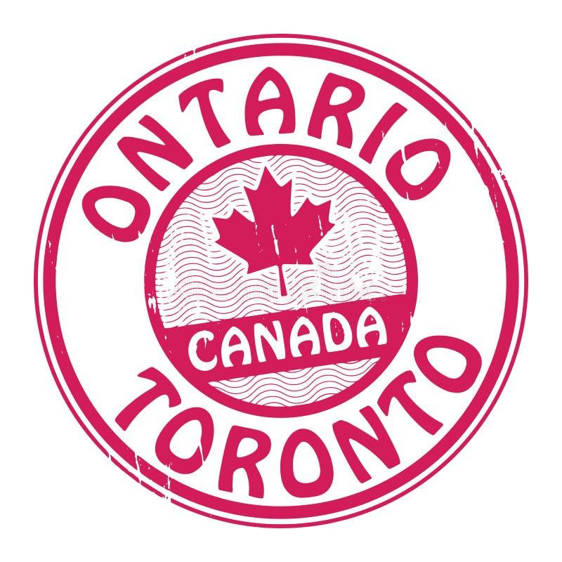 盖印与加拿大、安大略和多伦多的名字 向量例证