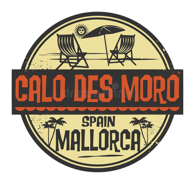 盖印与词Calo Des莫罗,书面的马略卡里面 向量例证