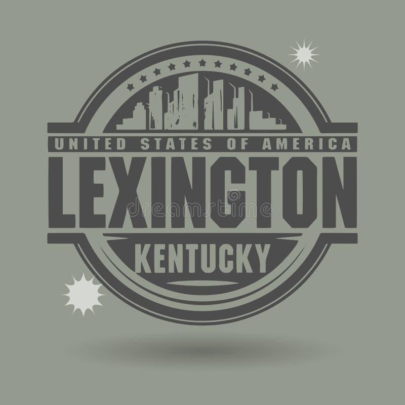 盖印或与里面文本列克星敦,肯塔基的标签 向量例证