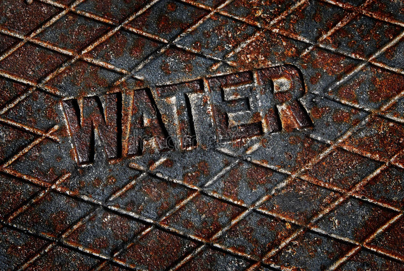 水盖子盒盖出入孔公共事业 免版税库存照片