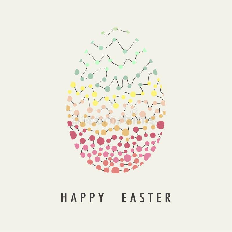 盖子设计复活节快乐的贺卡 向量例证