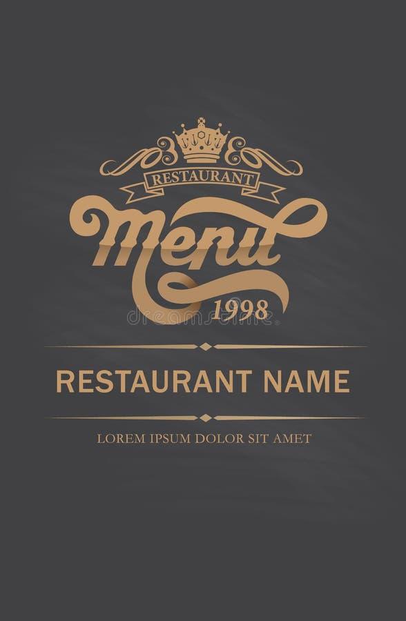 盖子餐馆菜单设计 向量例证
