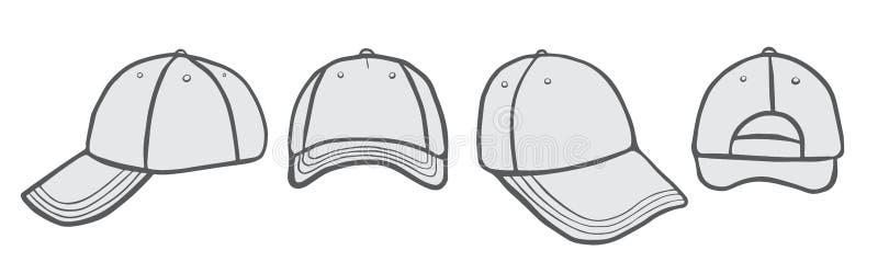 盖帽传染媒介模板 向量例证