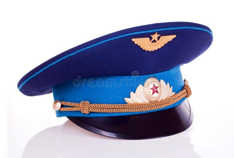 盖帽军事俄语 免版税图库摄影