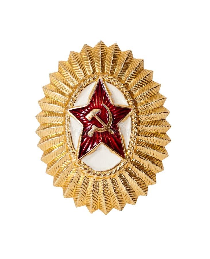 盖帽权威任命苏维埃军官 库存图片