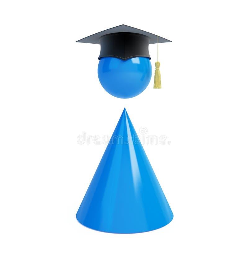 盖帽毕业人 库存例证