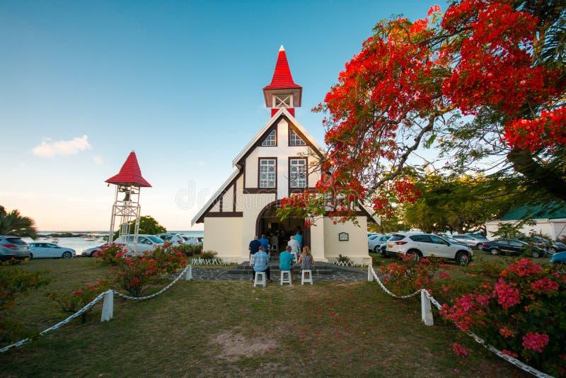 盖帽malheureux的,毛里求斯著名教会 库存图片