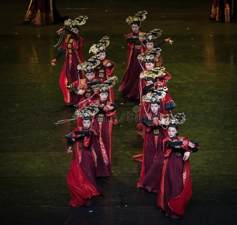 盖格舞蹈9古典宫廷舞蹈 库存照片