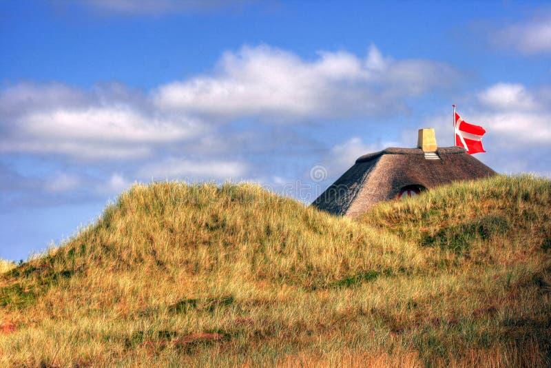 盖的村庄在丹麦 库存照片